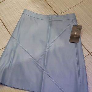 Zara pleather blue skirt